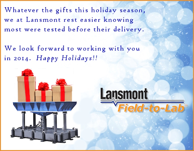Happy holidays from Lansmont - 2014.