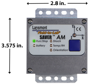 SAVER AM Data Logger Dimensions